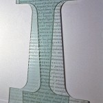"Singer's piece ""I AM"" is a 5-foot glass capital letter I"
